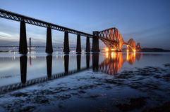 Вперед мост, Эдинбург, Шотландия стоковые фотографии rf