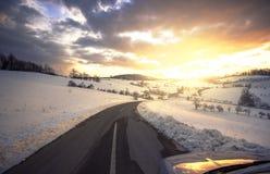 вперед дорога Стоковые Изображения RF