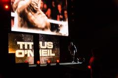 Впечатления от WWE живут событие во время путешествия в реальном маштабе времени 2017 WWE, Гамбург, Германия Стоковое Изображение RF