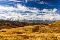 Впечатляющее landcape осени в горах Стоковое Фото