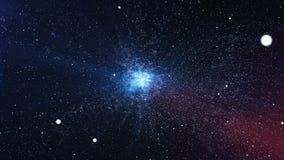 Впечатляющая большая челка с яркими звездами в космосе Стоковое Изображение RF