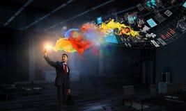 Впечатляющие мультимедийные технологии Мультимедиа стоковое изображение rf