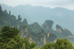 Впечатляющие штендеры песчаника в районе Tianzi Стоковое фото RF
