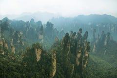 Впечатляющие штендеры песчаника в районе Tianzi Стоковые Фото