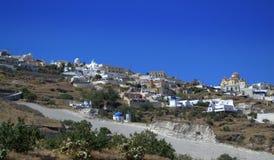 Впечатляющий греческий взгляд острова Стоковое фото RF