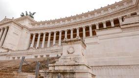 Впечатляющий национальный монумент Виктора Emmanuel в Риме Стоковая Фотография
