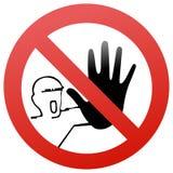 впишите не дорожный знак стоковые изображения