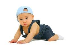 вползать младенца стоковая фотография rf