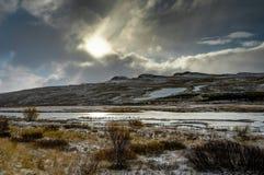 вполне счастлива те I если горы изображения благодарят использовано, то где зима а вы Ландшафт рождества на солнечном утре Стоковые Фотографии RF