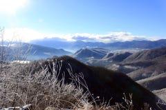 вполне счастлива те I если горы изображения благодарят использовано, то где зима а вы Стоковые Изображения