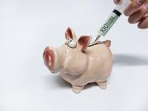 Впрыска наличных денег как кредит Стоковое Фото