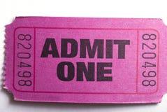 впустите один билет Стоковые Изображения RF