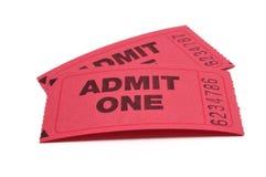 впустите что одно снабжает 2 билетами Стоковые Изображения RF