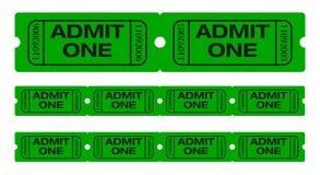 впустите что одно снабжает билетами Стоковое Изображение