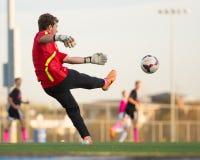 Вратарь футбола средней школы Lincolnway центральный Стоковые Изображения RF