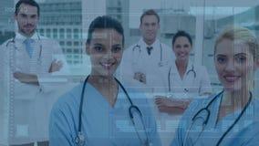 Врачи и медсестры видеоматериал