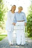 Врач-клиницист и старший пациент Стоковое фото RF