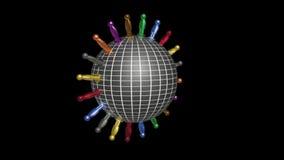 Вращая глобус и люди акции видеоматериалы