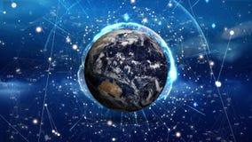 Вращая глобус и сети бесплатная иллюстрация