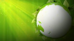 Вращая зеленая планета Символ чисто экологичности иллюстрация штока