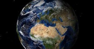 Вращая земля в космосе Северное полушарие акции видеоматериалы