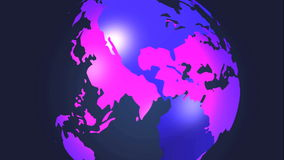 вращая земля 3d иллюстрация вектора