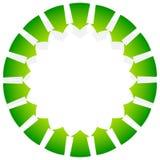 Вращая зеленое внутрь пункта стрелок/внутрь Абстрактное острословие формы бесплатная иллюстрация