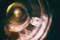 Вращая колесо Вращая механизм, сфотографированный на долгой выдержке Стоковая Фотография RF