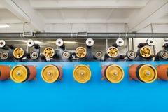 Вращая прорезиновые колеса машины замотки Стоковые Изображения
