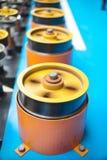 Вращая прорезиновые колеса машины замотки Стоковое фото RF