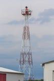 Вращая свет аэродромного маяка Стоковая Фотография