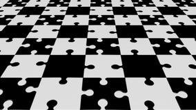 Вращая части головоломки в черно-белом сток-видео