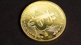 Вращая bitcoin, безшовная петля видеоматериал