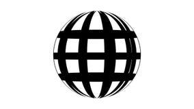 Вращение веб-дизайна значка мира плана на белом видео движения предпосылки бесплатная иллюстрация