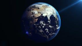 Вращение земли в космосе ashurbanipal иллюстрация вектора