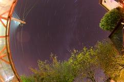 Вращение земли звездами Стоковое Изображение