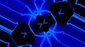 Вращение movments мандалы Tunel космоса гипнотическое с абстрактными знаками иллюстрация штока