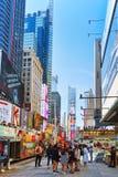 Времена Квадрат-центральные и главная площадь Нью-Йорка США стоковые фото