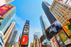 Времена Квадрат-центральные и главная площадь Нью-Йорка США стоковые изображения rf