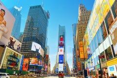Времена Квадрат-центральные и главная площадь Нью-Йорка США стоковое фото