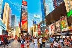 Времена Квадрат-центральные и главная площадь Нью-Йорка США стоковое изображение