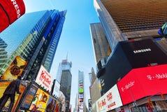 Времена Квадрат-центральные и главная площадь Нью-Йорка США стоковая фотография