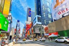Времена Квадрат-центральные и главная площадь Нью-Йорка США стоковые изображения