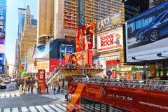 Времена Квадрат-центральные и главная площадь Нью-Йорка США стоковая фотография rf