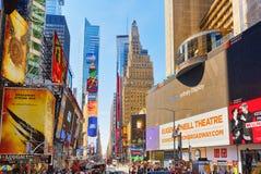 Времена Квадрат-центральные и главная площадь Нью-Йорка США стоковое изображение rf