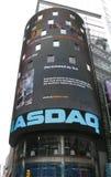 времена york NASDAQ новые квадратные стоковые фото