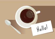 ` Времени кофе здравствуйте!! ` Стоковое фото RF