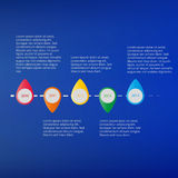 Временная последовательность по информации графическая с текстом на яркой голубой предпосылке Стоковое Фото