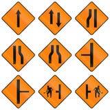 Временные предупреждающие дорожные знаки в Ирландии иллюстрация вектора