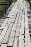 Временный деревянный мост Стоковые Изображения